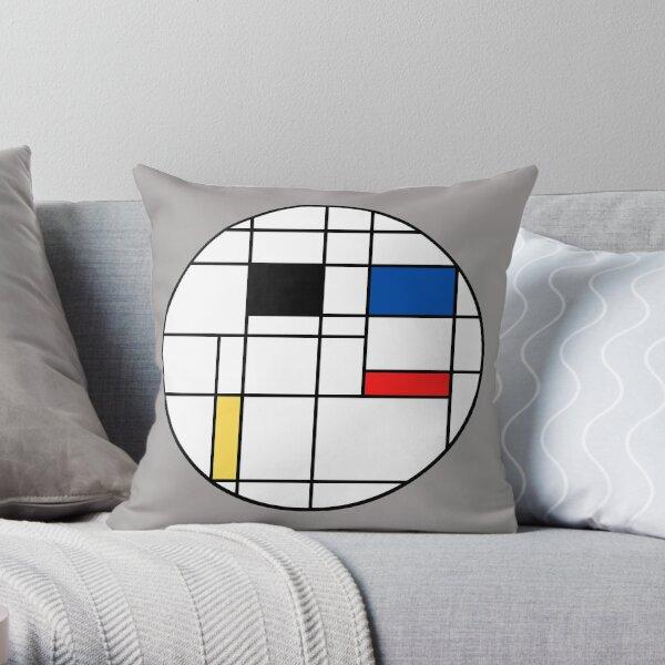 Mondrian style #4 Throw Pillow