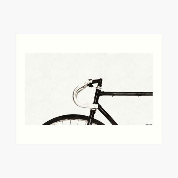 Minimalist Bicycle Painting Art Print