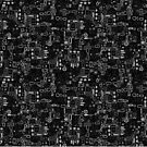 Klimt Pattern - Monochrome by FrederickJay