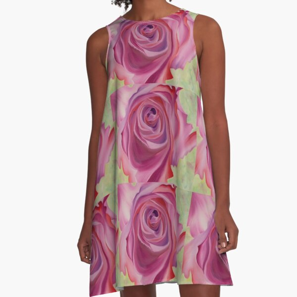 Scented Rose A-Line Dress