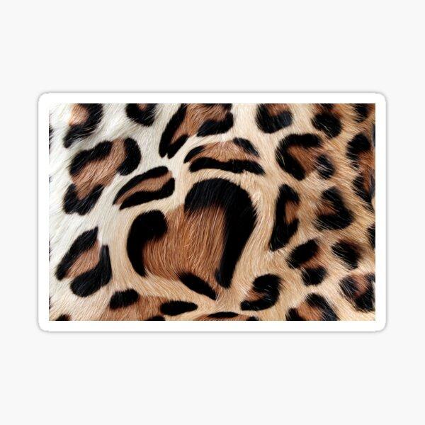 leopard fur heart Sticker