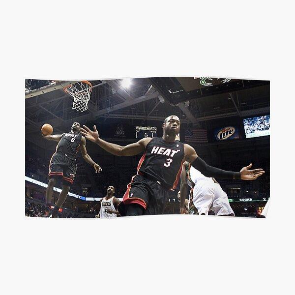 Dwayne Wade à LeBron Alley-oop Poster