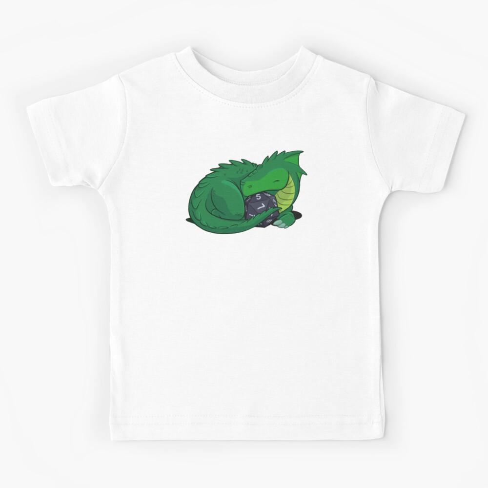 D20 Green Dragon Kids T-Shirt
