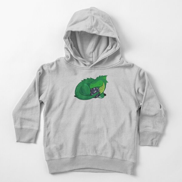 D20 Green Dragon Toddler Pullover Hoodie