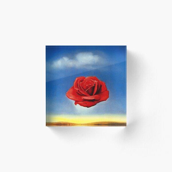 The Meditative Rose-Salvador Dali Acrylic Block