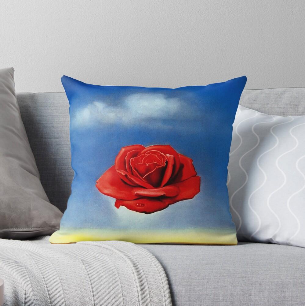 The Meditative Rose-Salvador Dali Throw Pillow