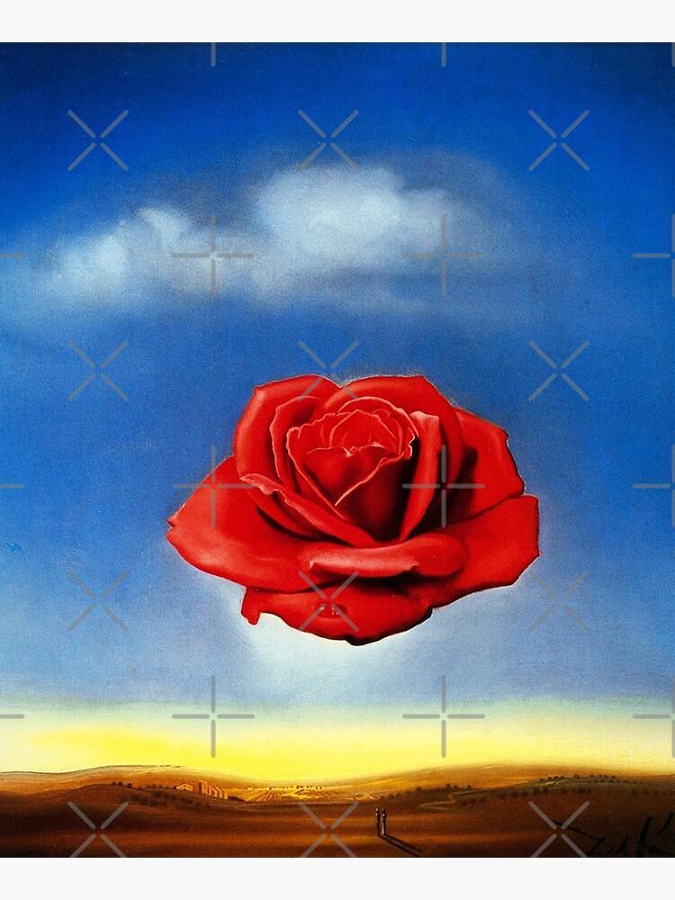 The Meditative Rose-Salvador Dali by LexBauer