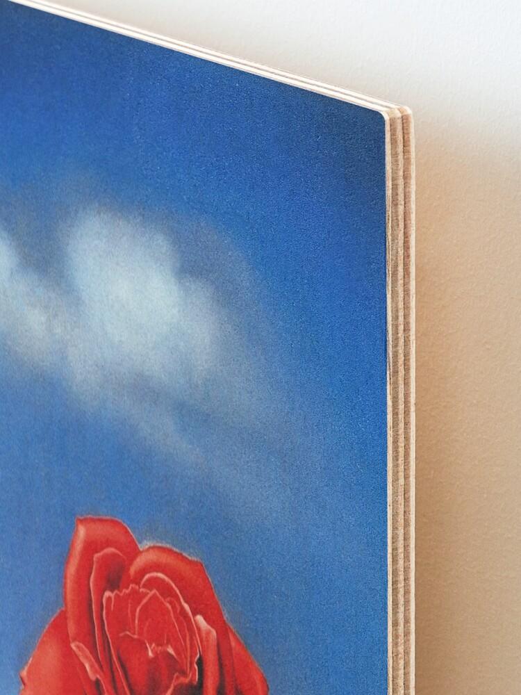 Alternate view of The Meditative Rose-Salvador Dali Mounted Print