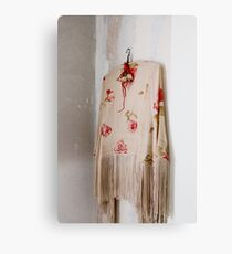 Vintage shawl Canvas Print