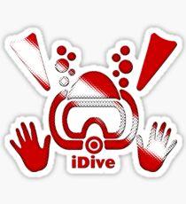 iDive Original Dive Flag 2016 Sticker