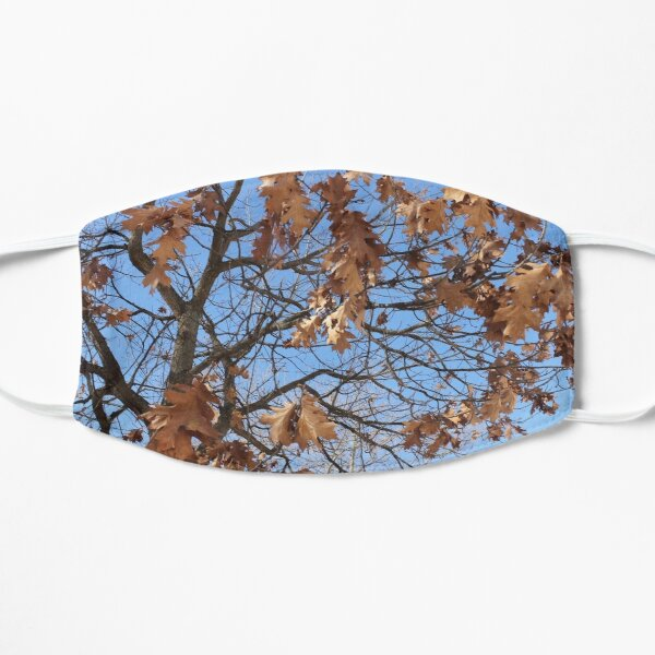 Dry autumn leaves on the tree Flat Mask
