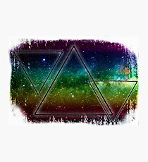 Hipster Three Triangles Photographic Print