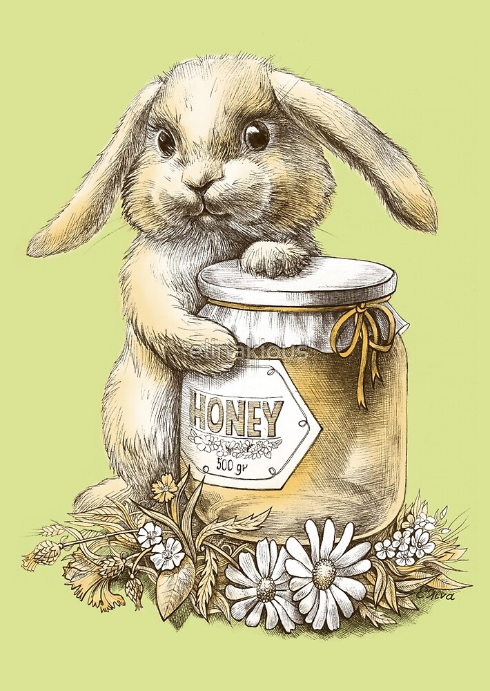 Honey Bunny  (two color) by elinakious