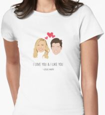 Leslie Knope Loves Ben Wyatt Women's Fitted T-Shirt