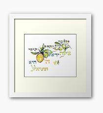 A Virtuous Woman - Eshet Chayil - Mishlei 31:30 Framed Print