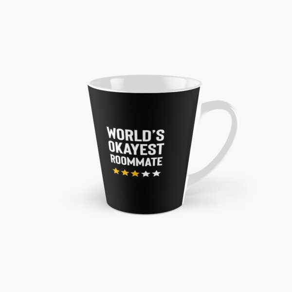 Worlds Okayest Roommate Funny Birthday Christmas Gag Gift Tall Mug