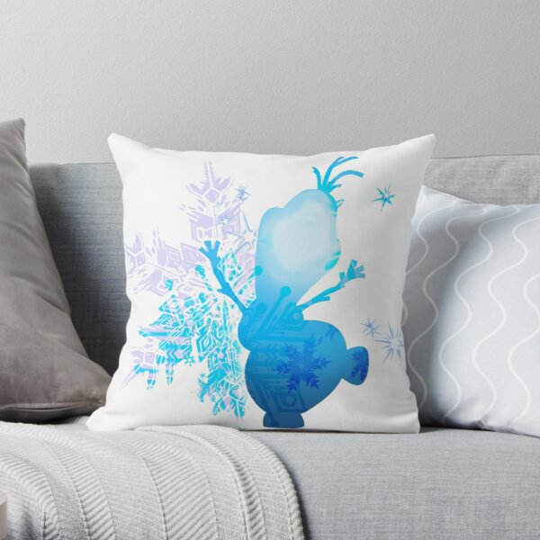 Snowman Silhouette Throw Pillow