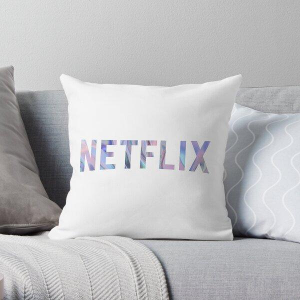Purple Netflix Throw Pillow