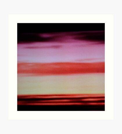 Sunset cloud bands Art Print