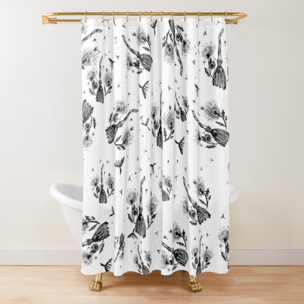 Witchy Dandelion Besom Magick Shower Curtain