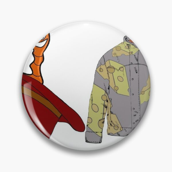 ColdmaN5 Earthworm and CheeseCoat  Pin