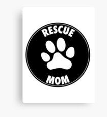 RESCUE MOM - CIRCLE Canvas Print