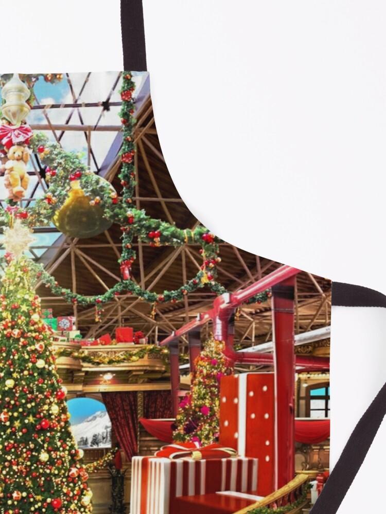 Alternate view of Santas Workshop - Christmas Holiday Art Apron