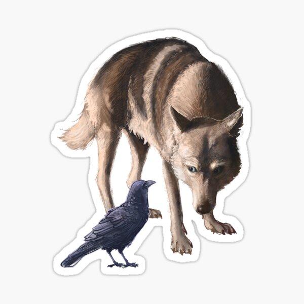 Wolf & Crow Sticker