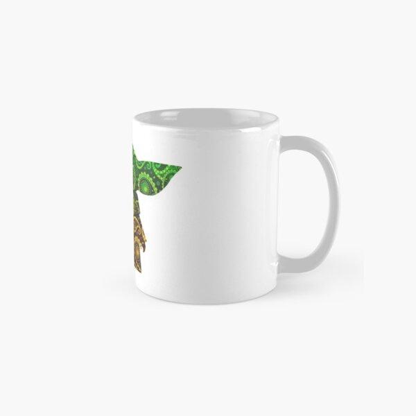 Teardrop Mandala Silhouette - Alien Forest - Dark Background Classic Mug
