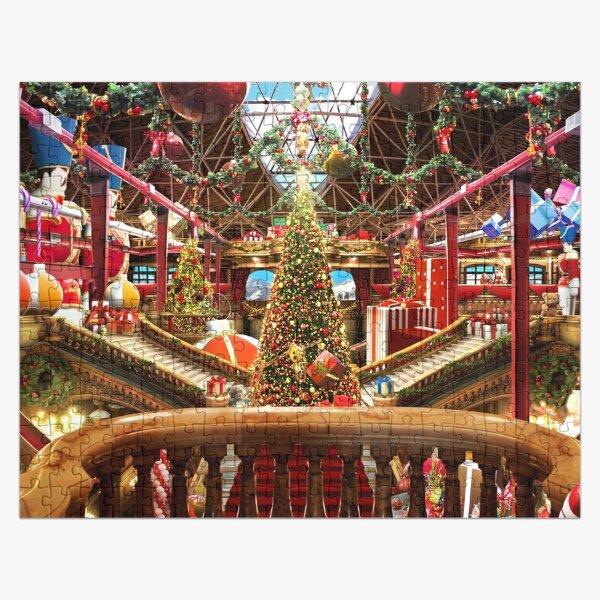 Santas Workshop - Christmas Holiday Art (w. balcony) Jigsaw Puzzle