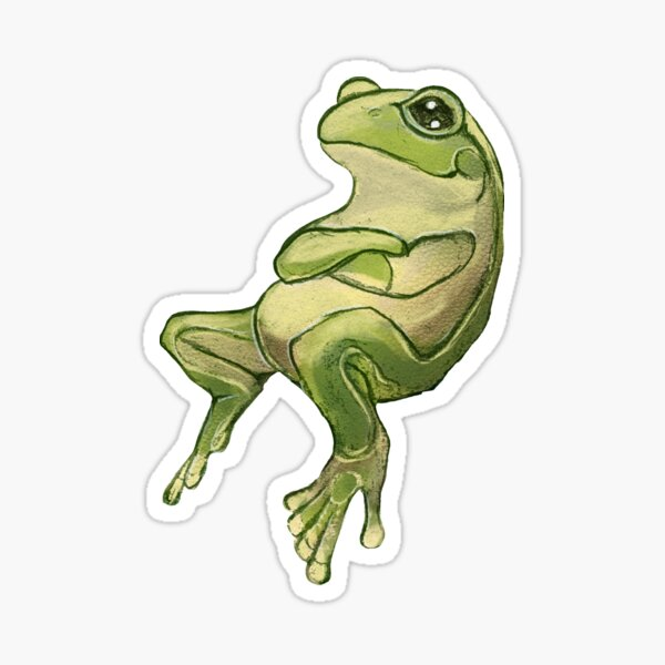 Content Frog Sticker