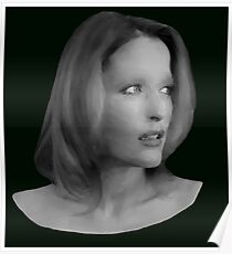 Gillian Anderson - Oil Painting Poster
