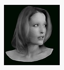 Gillian Anderson - Oil Painting Photographic Print