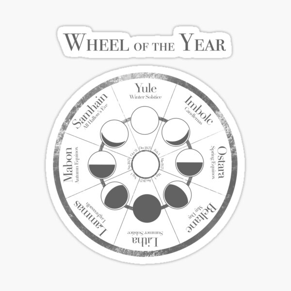 Wheel of the Year Sticker