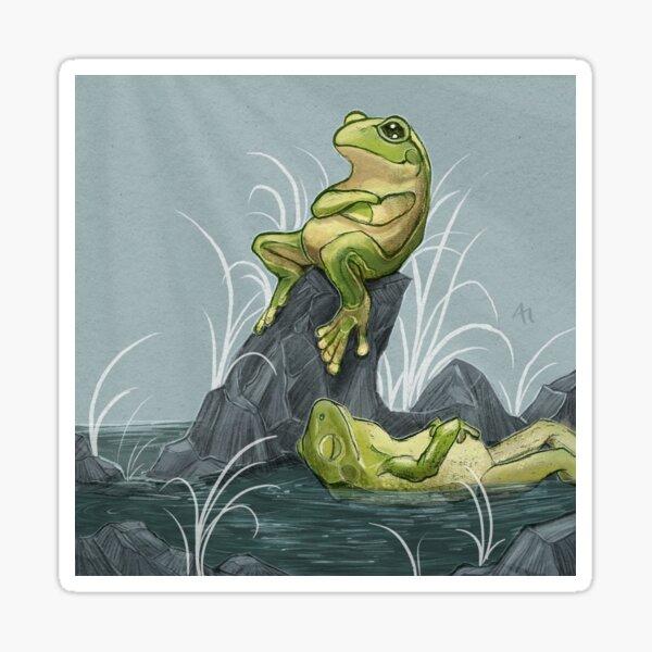 Relaxing Frogs Sticker