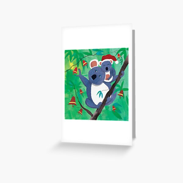 Merry Koalas Greeting Card