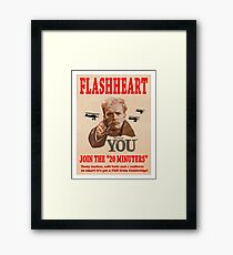 FLASHHEART WANTS YOU Framed Print