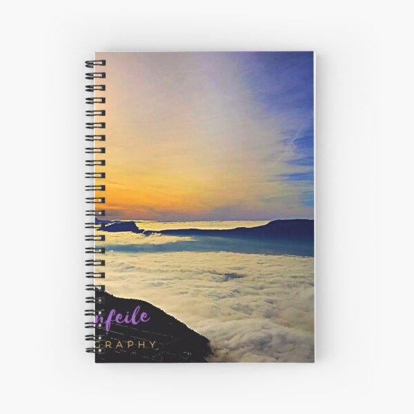 Photo above the clouds Spiral Notebook