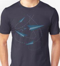 Papier Darts / Flugzeuge Unisex T-Shirt