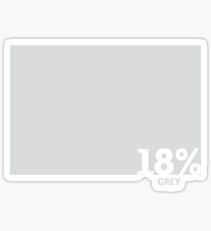 18% Grey Test Tee Sticker