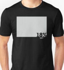 Camiseta ajustada 18% camiseta de prueba gris