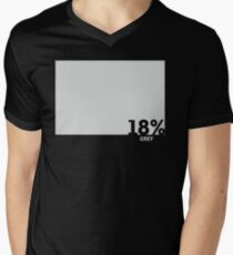 18% Grey Test Tee Men's V-Neck T-Shirt