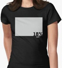 18% Grey Test Tee Women's Fitted T-Shirt