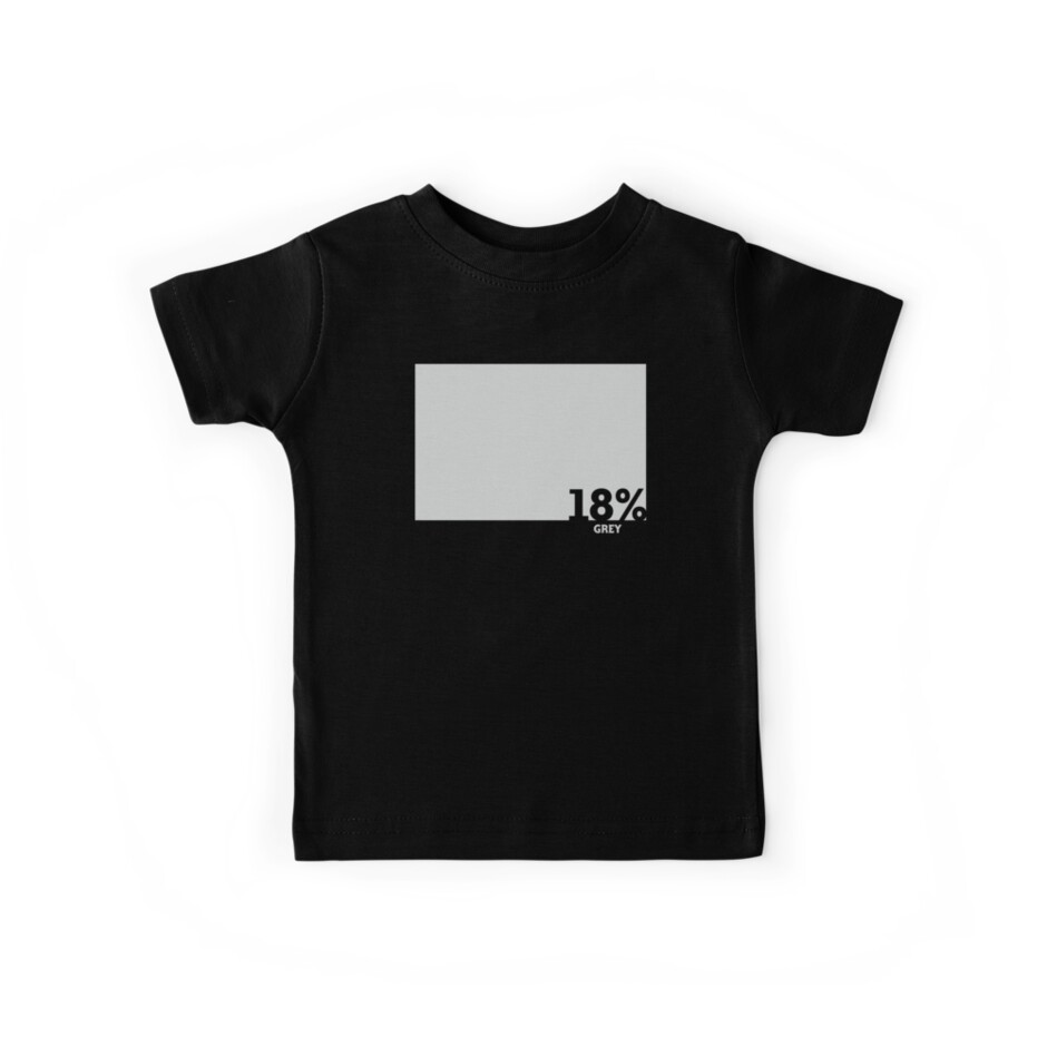 18% Grey Test Tee by Naf4d