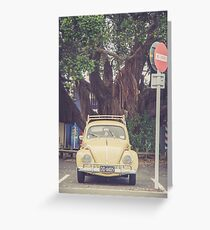 VW Bug Greeting Card