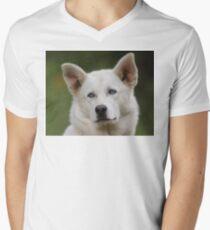 Working Dog Portrait Men's V-Neck T-Shirt
