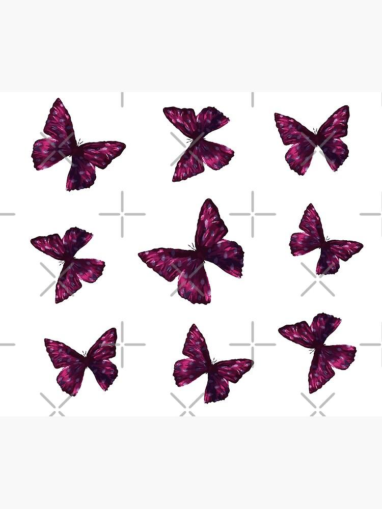 Pink Butterfly Sticker Pack by artbydelfineart