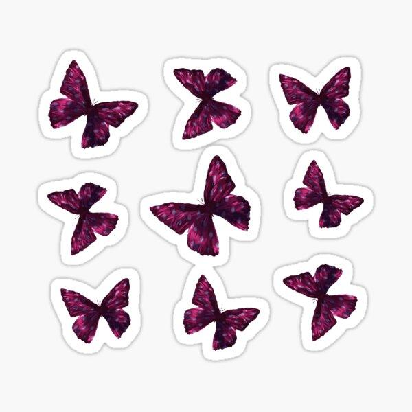 Pink Butterfly Sticker Pack Sticker