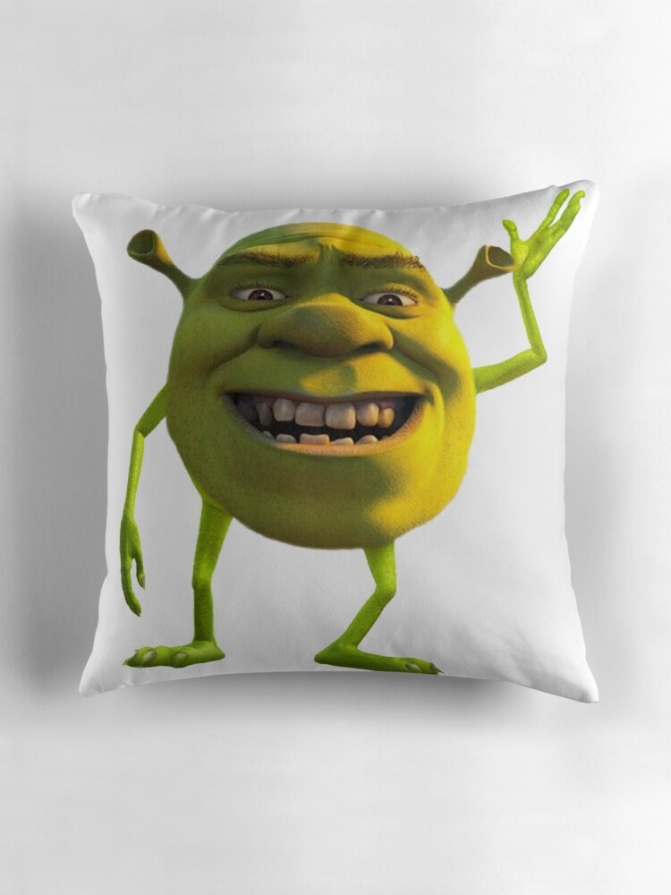 Quot Shrek Wazowski Quot Throw Pillows By Greedretro Redbubble