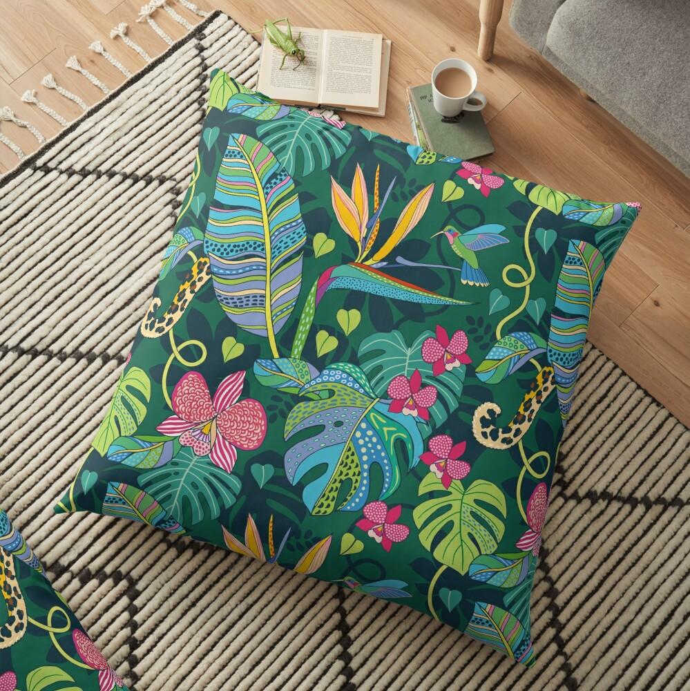 Bohemian Tropics Floor Pillow